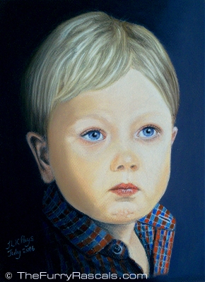 Childrens Portrait in Soft Pastels - The Furry Rascals Cyprus